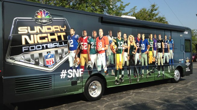 Sunday Night Football Bus Fires Up Eagles Fans Around Town