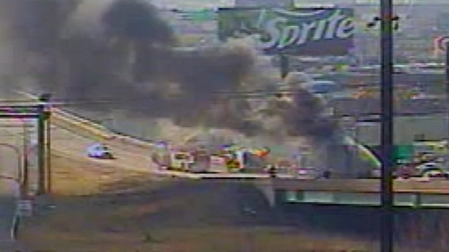Tractor Trailer Fire Stops Traffic on I-95 On-Ramp