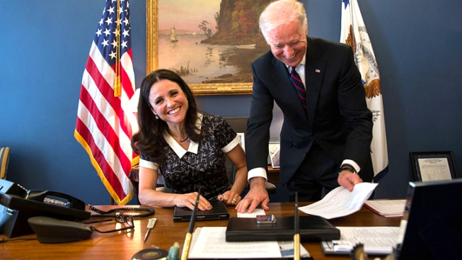 """Veep"" Star Julia Louis-Dreyfus Lunches with Biden"