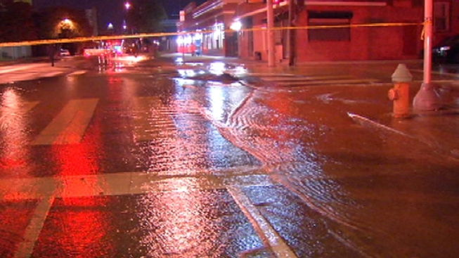 Water Main Break in University City