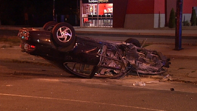 Suspected Drunk Driver Flips Car