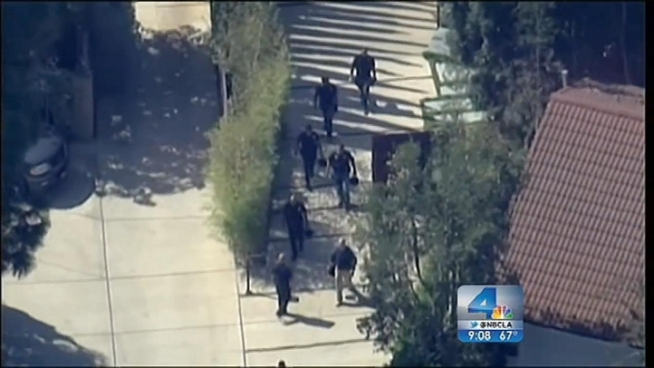 SWAT teams and LAPD officers swarmed the Hollywood Hills home of Ashton Kutcher Wednesday morning on a call of shots fired from inside the home. When police arrived, they determined it was all a hoax, and an expensive one for taxpayers. Lolita Lopez reports from the Hollywood Hills for the NBC4 News at 9 p.m. on Oct. 3, 2012.