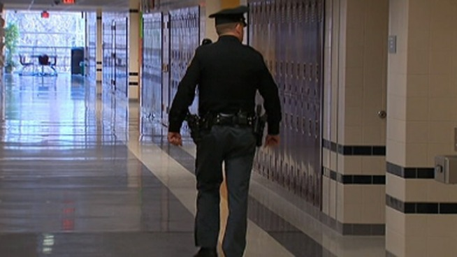 Police officers are now patrolling inside public and private schools in Upper Merion, Montgomery County.