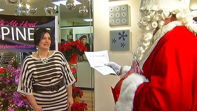 A Delaware County single mom of five gets a surprise makeover and an even bigger surprise from Santa. NBC10's Monique Braxton has the story.