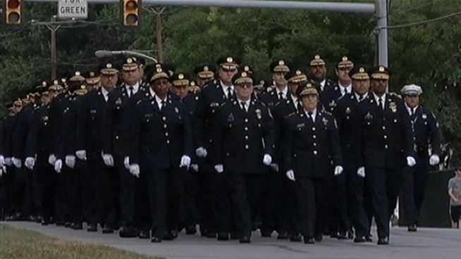 Friends, family, and fellow officers said goodbye to Philadelphia Police Officer Brian Lorenzo at a public viewing Thursday night. The 23-year veteran of the force was killed in a head-on collision on I-95 near Cottman Avenue. NBC10's Denise Nakano was at Thursday night's wake, where those close to Officer Lorenzo say he had an enormous impact on everyone around him.