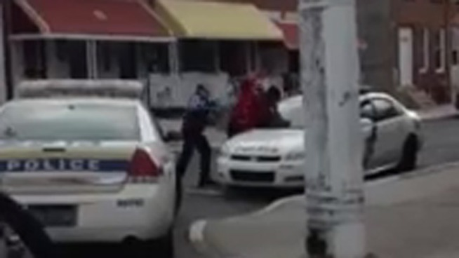Caught on Cam: Officers Strike Suspect With Batons