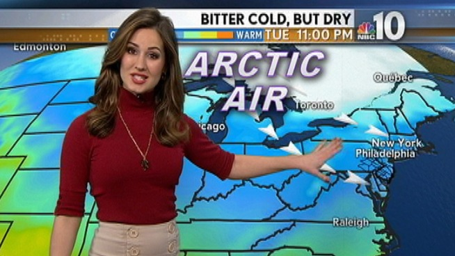 An Arctic blast brings the coldest temperatures to the area in years as NBC10 meteorologist Sheena Parveen continues to track a possible snowstorm.
