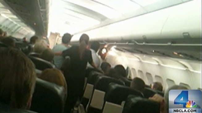 Passengers wrestled an unruly man to the ground during flight to John Wayne Airport this week. Actor Arash Durrani allegedly refused to stay in his seat, and now faces felony charges for interfering with flight crew. Vikki Vargas reports from John Wayne Airport for the NBC4 News at 5 p.m. on Sept. 27, 2012.