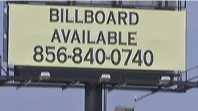 Atlantic County residents are not happy about a 60-foot-high LED billboard that sits along Bay Drive. Residents say the light up sign looks like something you would see in Atlantic City. The billboard will be lit with advertisements by April 1. NBC10's Cydney Long reports.