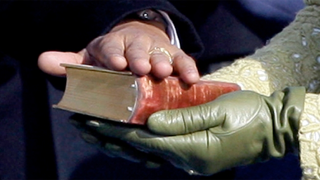President Obama used the Lincoln Bible in his first inauguration and plans to use it again Monday. News4's Wendy Rieger went to the Library of Congress to get a look at it.