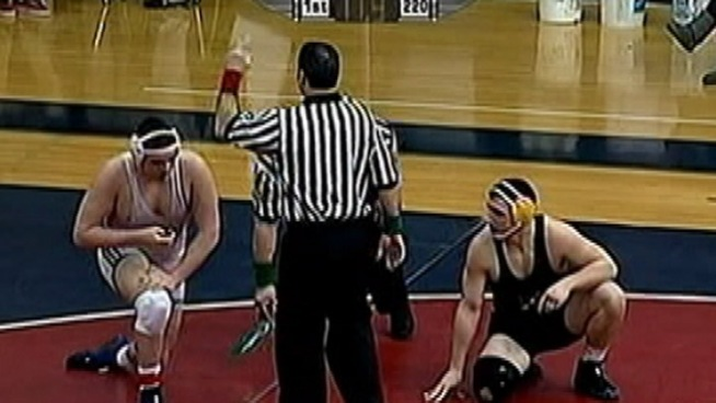On Saturday night, veteran official Dennis Buchman asked Bethlehem Mayor John Callahan to leave the District 11 Class AAA wrestling championships at Liberty High School after Callahan allegedly made loud objections to referee calls. NBC10's Doug Shimell reports details from the incident and reactions from locals.