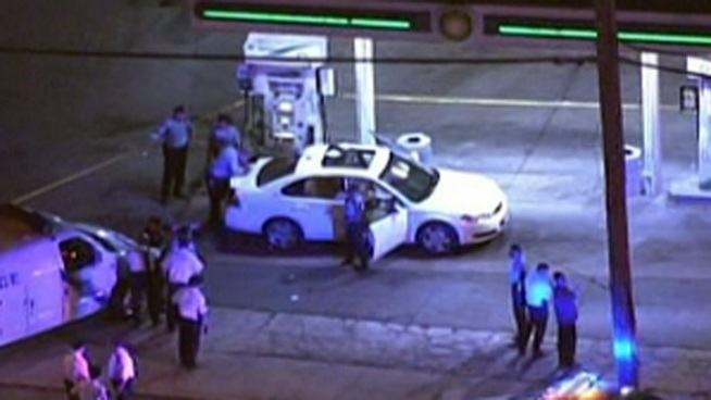 Philadelphia Police Officer Jose Roman was hit by a bullet Tuesday night in North Philadelphia. Investigators say the bullet ricocheted and hit his bullet proof vest in his lower back. Officer Roman was released from the hospital Wednesday afternoon. NBC10's Marisa Brahney reports.