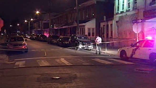 Philadelphia Police fired several shots at an armed robbery suspect in Frankford.  The suspect, who was hit in the arm, was treated and released from the hospital into police custody.