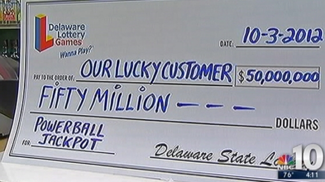 Someone bought a $50-million winning Powerball ticket in Wilmington, Del. NBC10's Doug Shimell headed to the store that sold the winning ticket.
