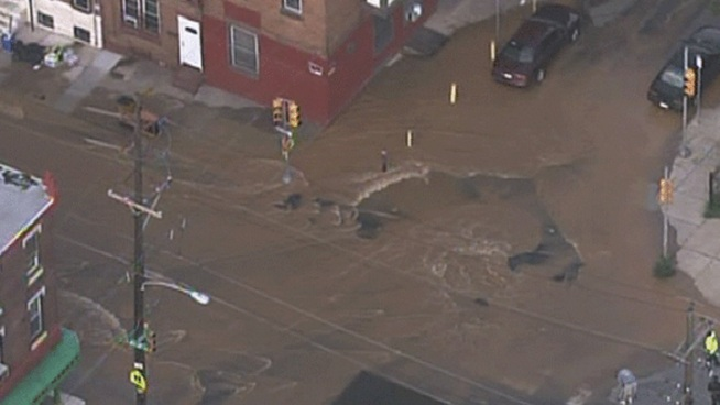 There was another major water main break in Philadelphia on Wednesday. The 48-inch pipe broke at Front and Tioga Streets in North Philadelphia. NBC10's Terry Ruggles spoke to Philadelphia's Water Commissioner about the third big break in less than two weeks.