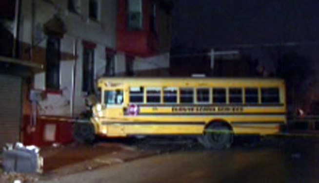 The driver of the school bus that crashed into a North Philadelphia building is suspended without pay. Witnesses accused the driver of being on his cell phone when the crash happened, but he denies the reports. NBC10's Lu Ann Cahn reports.