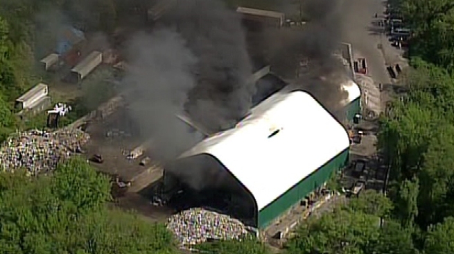 Recycling Plant on Fire