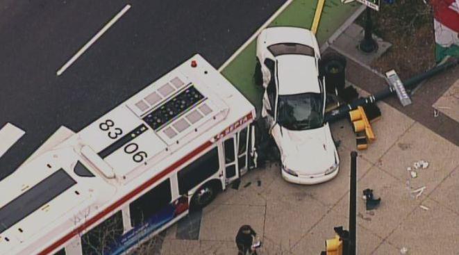 SEPTA Bus, Car Collide in Center City