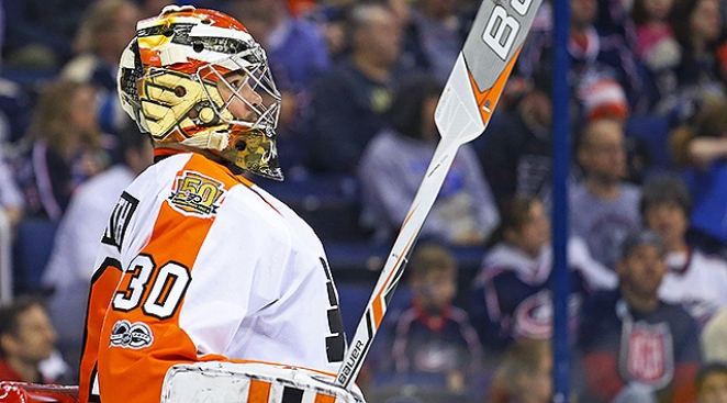 Outplayed Most of Night, Flyers Grateful for Neuvirth's Stellar Game