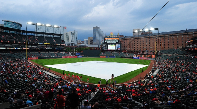 Phillies-Orioles Game Postponed Because of Rain