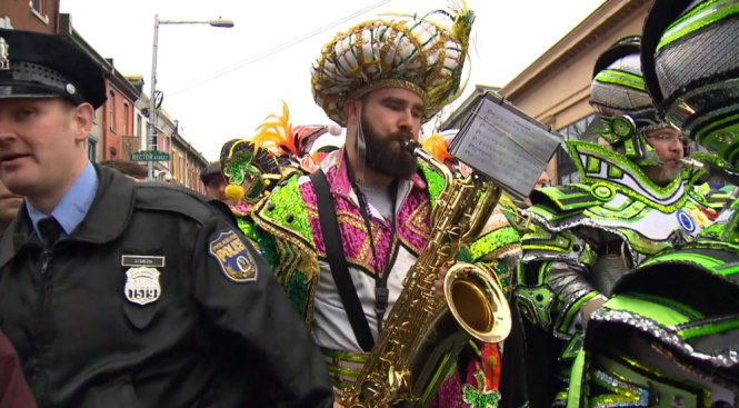 Jason Kelce Rocks the Mummer's Attire for Another Philly Celebration