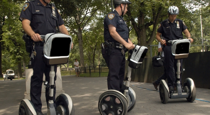 Cops Ditch Foot Patrol for New Wheels