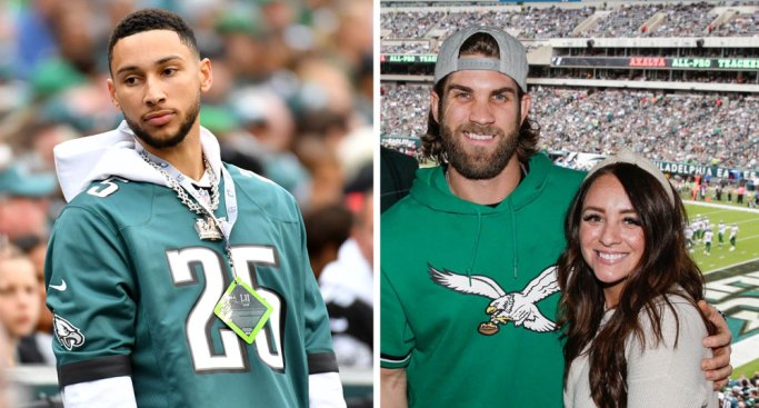 Ben Simmons, Bryce Harper, Other Stars Come Out for Eagles-Jets at the Linc