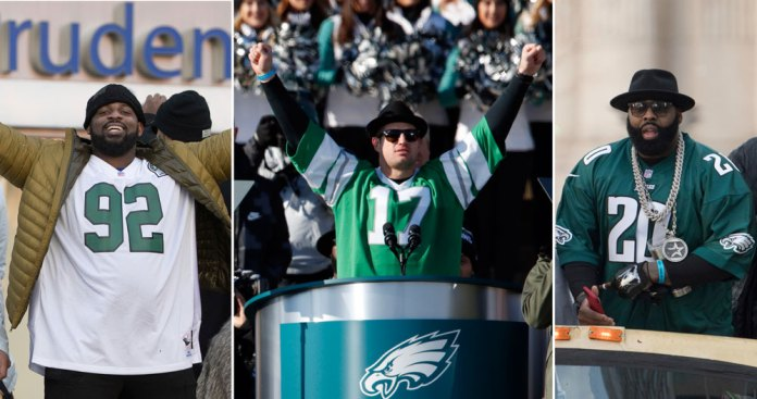 Championship Eagles Pay Homage to All-time Greats in Parade Attire ... cacca3cd0