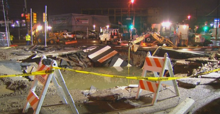 Intersection Reopens Months After Massive Water Main Break