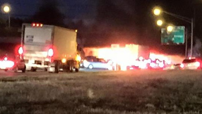 Truck Fire on I-295