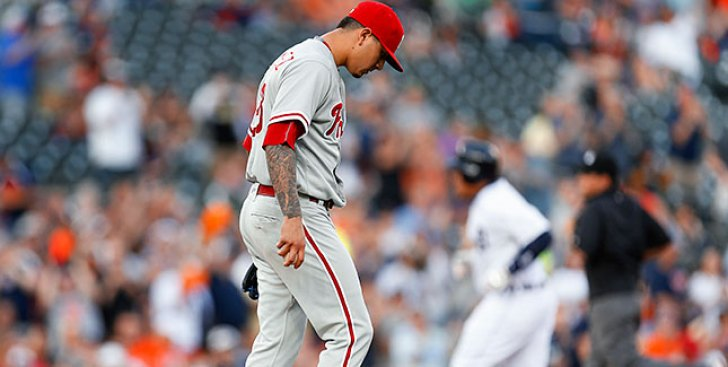 Vince Velasquez Leaves Game With Injury as Phillies' May Woes Mount