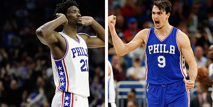 Sixers Joel Embiid, Dario Saric Among Finalists for Rookie of the Year