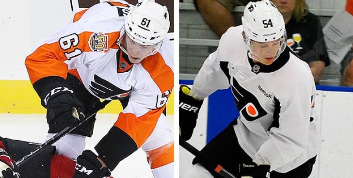 Feeling Like NHLers, Flyers Prospects Phil Myers, Oskar Lindblom Ready to Reach Dreams