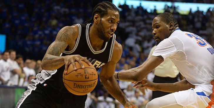 NBA Playoffs: Leonard Scores 31 to Help Spurs Beat Thunder