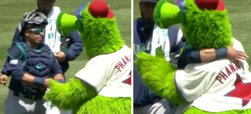 Awwweee: The Phanatic Gives Chooch a Hug