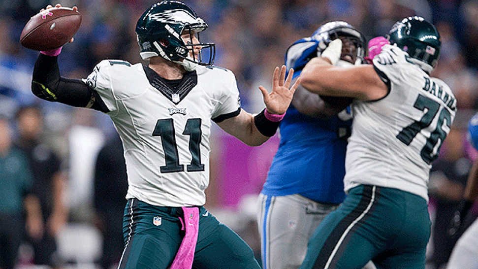 Carson Wentz No Longer Perfect, But Still Very Impressive Vs. Lions