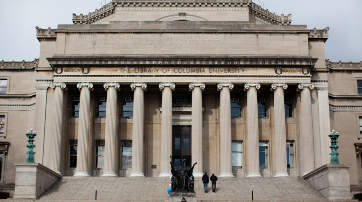 File image of the Columbia University Library in New York.