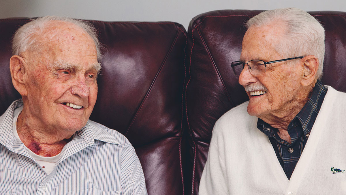 Two Battle of the Bulge Survivors Meet Up to Reminisce