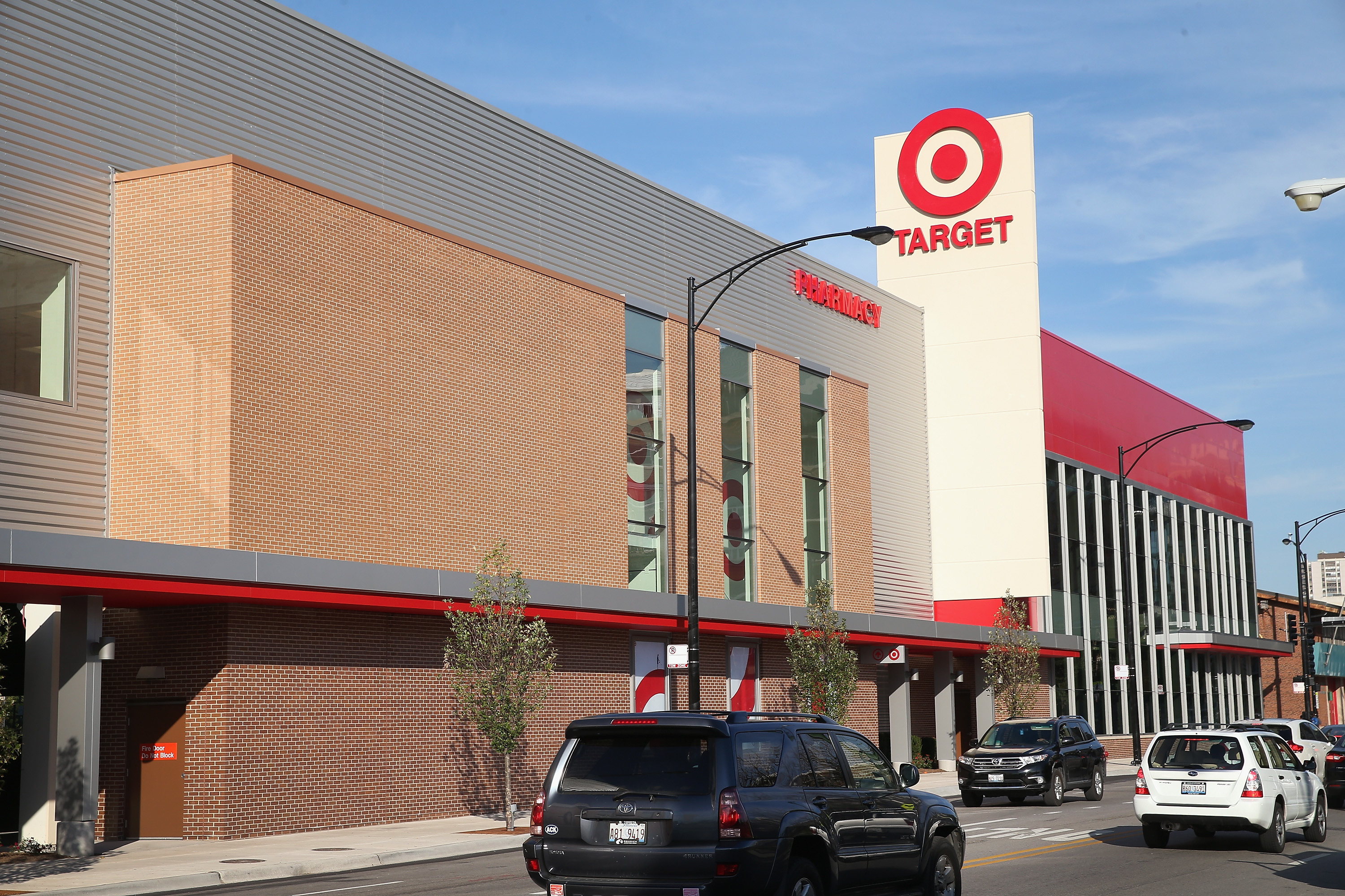 A newly-opened Target store built on land where the notorious Cabrini-Green housing project once stood is shown on October 10, 2013 in Chicago, Illinois.