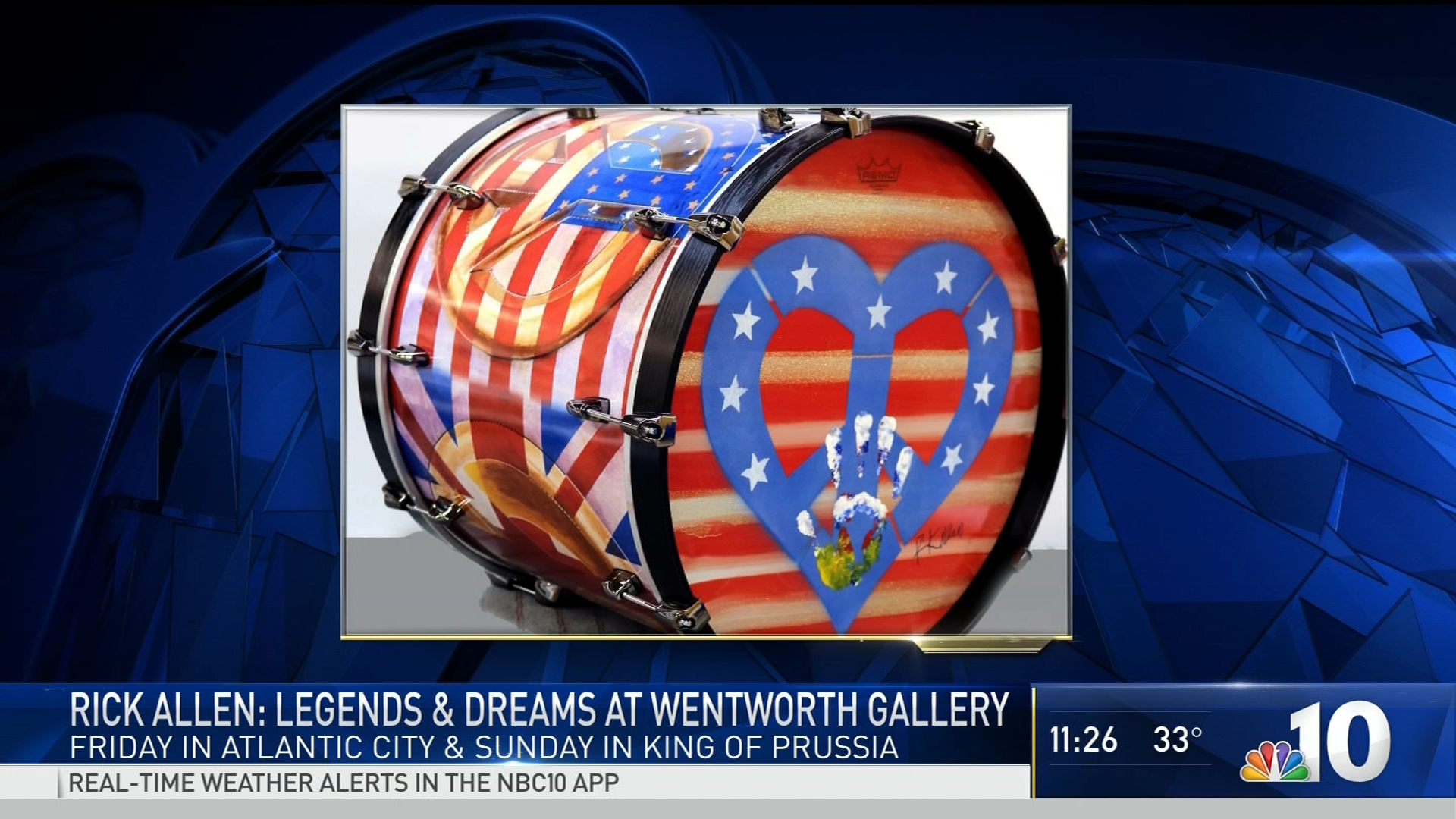 Def Leppard's Rick Allen Bringing Art Show to Philly Area